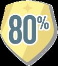 Feedback over 80% Badge