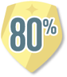 Feedback over 80% Badge