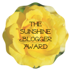 The Sunshine Blogger Award!